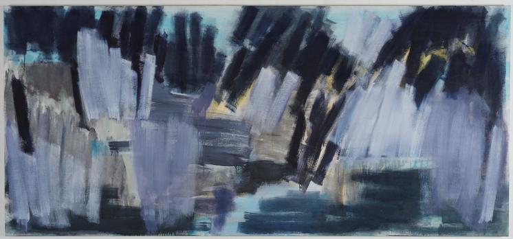 zonder titel 2008 | acryl op linnen | 120 x 270 cm